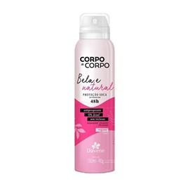 Desodorante Aerosol Davene Corpo a Corpo 150 ml Bela e Natural