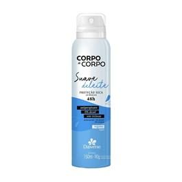 Desodorante Aerosol Davene Corpo a Corpo 150 ml Suave Deleite