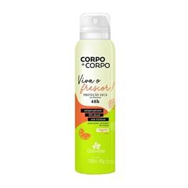 Desodorante Aerosol Davene Corpo a Corpo 150 ml Viva o Frescor!