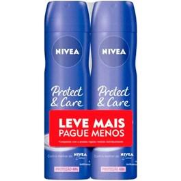 Desodorante Aerosol Feminino Nivea Protect Care Leve Mais Pague Menos | Com 2 Unidades