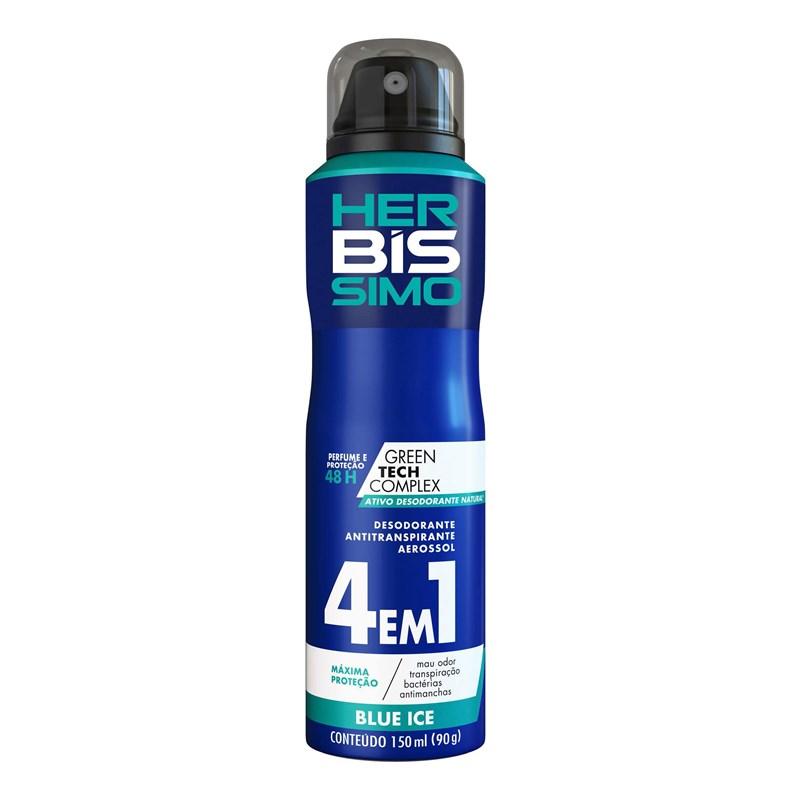 Desodorante Aerosol Herbissimo Bis Masculino 150 ml Blue Ice