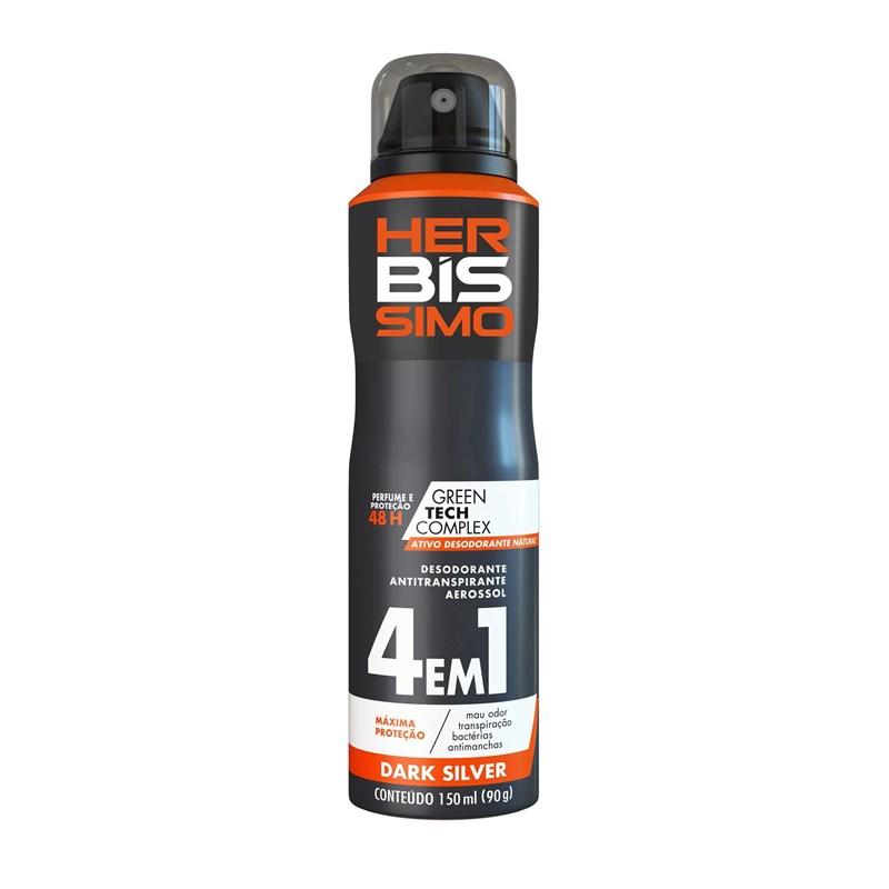 Desodorante Aerosol Herbíssimo Masculino 150 ml Dark Silver