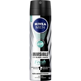 Desodorante Aerosol Masculino Nivea Invisible Black & White Fresh 150ml