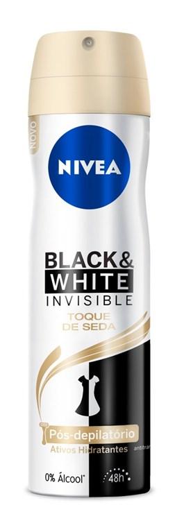 Desodorante Aerosol Nivea Feminino Invisible 150 ml Black White