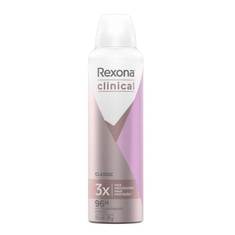 Desodorante Aerosol Rexona Feminino Clinical 91 gr Classic