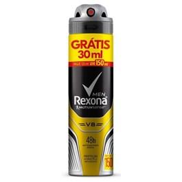 Desodorante Aerosol Rexona Men 90 gr V8 Grátis 30 ml