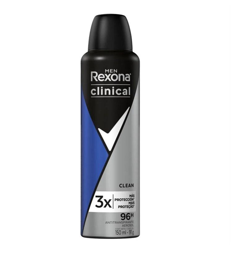 Desodorante Aerosol Rexona Men Clinical 91 gr Clean