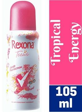 Desodorante Aerosol Rexona Teens 64 gr Tropical Energy