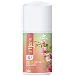Desodorante Antiperspirante Roll On Davene La Flore 50 Flor de Hibisco