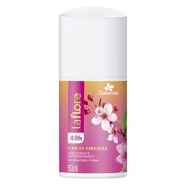 Desodorante Antiperspirante Roll on Davene La Flore 50 ml Flor de Cerejeira