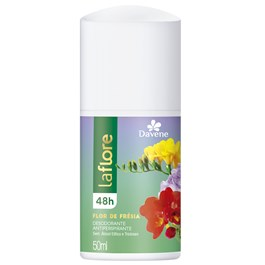 Desodorante Antiperspirante Roll on Davene La Flore 50 ml Flor de Fresia