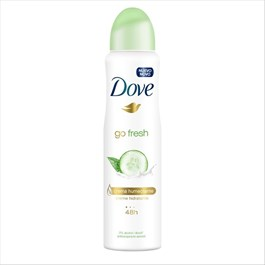 Desodorante Antitranspirante Aerosol Dove Go Fresh Pepino e Chá Verde 150ml