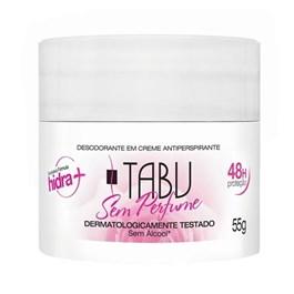 Desodorante Creme Tabu 55 gr Sem Perfume