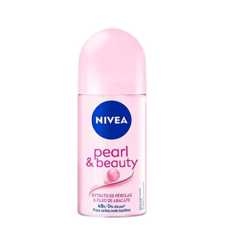 Desodorante Roll On Nivea feminino 50 ml Pearl & Beauty