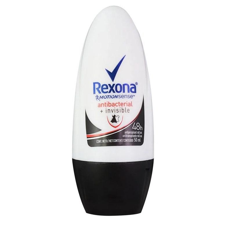 4630573de Desodorante Roll On Rexona Feminino 50 ml Antibacterial + Invisible ...
