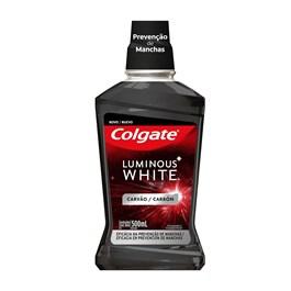 Enxaguante Bucal Colgate Luminous White 500 ml Carvão