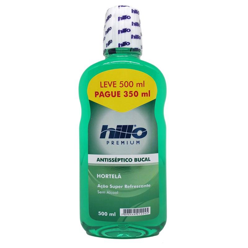 Enxaguante Bucal Hillo Hotelã Leve 500 ml Pague 350 ml