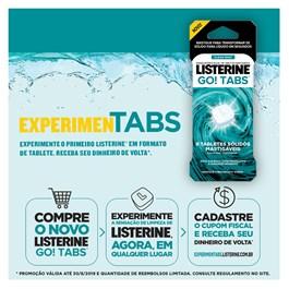 Enxaguante Bucal Listerine GO! TABS 4 Tabletes Clean Mint