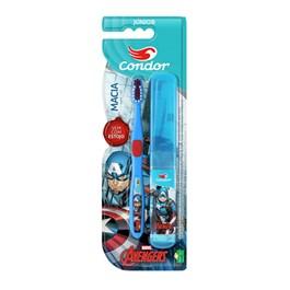 Escova Dental Condor Júnior Macia Avengers Cores Sortidas