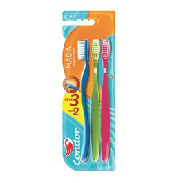 Escova Dental Condor Plus Macia Leve 03 Pague 02 Cores Sortidas