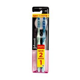 Escova Dental Johnson & Johnson Reach Confort Média Leve 2 Pague 1 Unidade