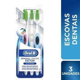 Escova Dental Oral-B Gengiva Detox Untrafino 3 Unidades