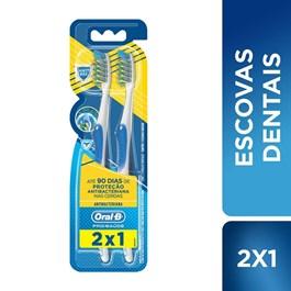 Escova Dental Oral-B Pro-Saúde Antibacteriana 2 Unidades