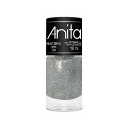 Esmalte Anita Glitter 10 ml  Heavy Metal 380