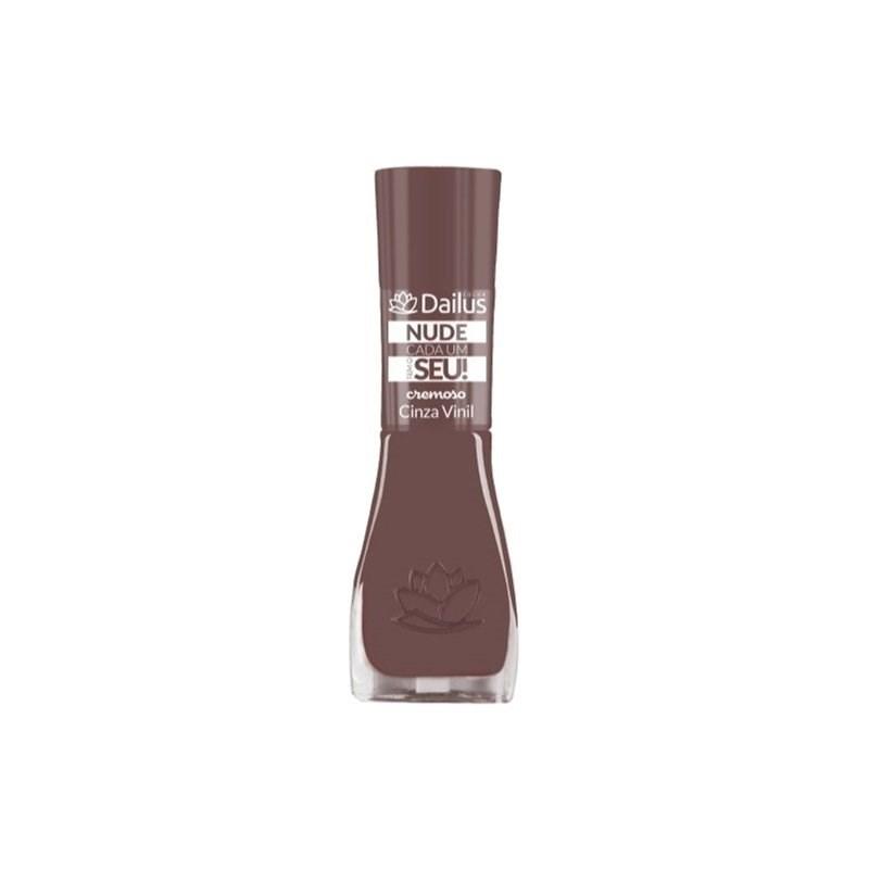 Esmalte Dailus Cremoso Nude Cada um Tem o Seu 8 ml Cinza Vinil