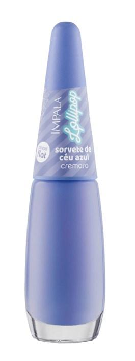 Esmalte Impala Cremoso Lollipop 7,5 ml Sorvete de Céu Azul
