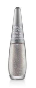 Esmalte Impala Viva Ame & Brilhe Glitter 3D 7,5 ml Brilhe Como Diamante