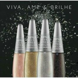 Esmalte Impala Viva Ame & Brilhe Glitter 3D 7,5 ml Viva com Amor