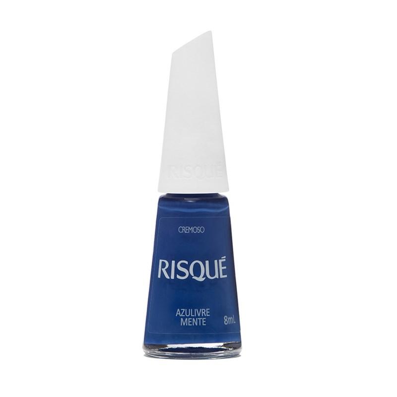 Esmalte Risqué Cremoso Novos Coloridos 8 ml Azulivremente