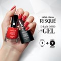Esmalte Risqué Diamond Gel Cremoso 9,5 ml Hibisco Rosa