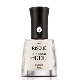 Esmalte Risqué Diamond Gel Natural 9,5 ml Chá Branco