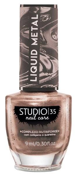 Esmalte Studio 35 Liquid Metal 9 ml #ourochampanhe