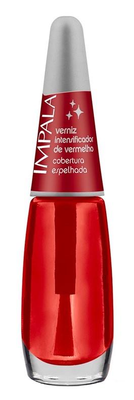 Esmalte Verniz Intensificador de Vermelho Impala 7,5 ml Cobertura Espelhada