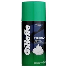 Espuma de Barbear Gillette Foamy 175 gr Mentol