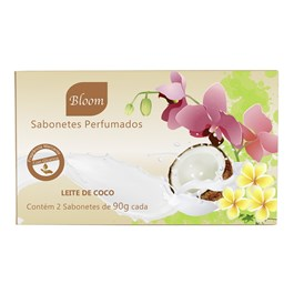 Estojo Bloom 2 Sabonetes 90 gr Leite de Côco