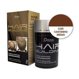 Fibra Capilar Hair Building 22 gr Castanho Médio