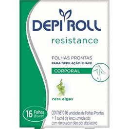 Folha Pronta para Depilação Depiroll Resistance | Com 16 Unidades