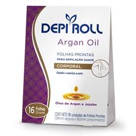 Folhas Prontas Corporal Depi Roll 16 unidades Argan Oil