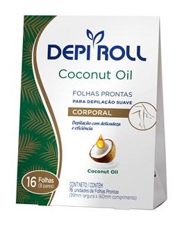 Folhas Prontas Corporal Depi Roll Coconut Oil 16 Unidades