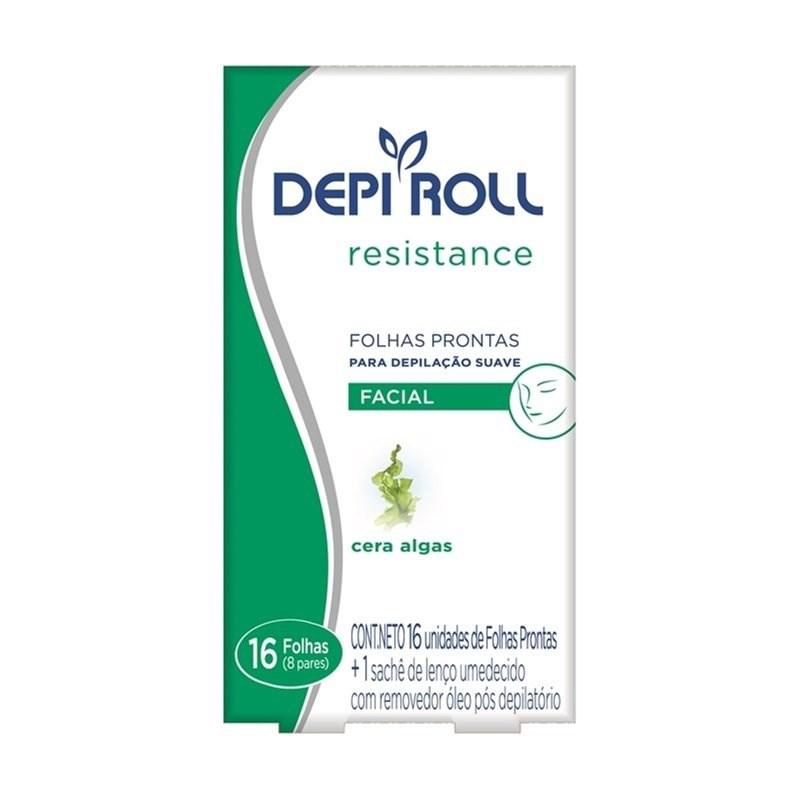 Folhas Prontas Facial Depi Roll 16 unidades Resistance