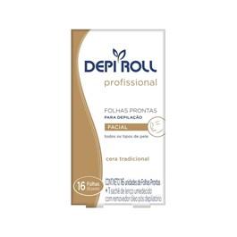 Folhas Prontas Facial Depi Roll 16 unidades Tradicional