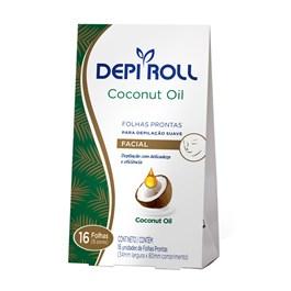 Folhas Prontas Facial Depi Roll Coconut Oil 16 Unidades