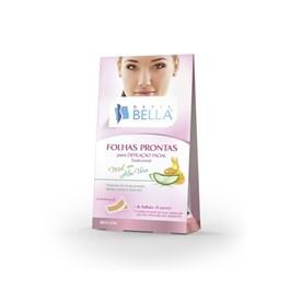 Folhas Prontas Facial Depil Bella 16 unidades Mel com Aloe Vera