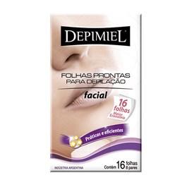 Folhas Prontas Facial Depimiel 16 unidades