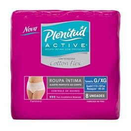 Fralda Geriátrica Plenitud Active Feminino 8 unidades Cotton Flex G/XG