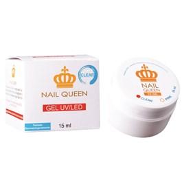 Gel Alongamento de Unha Nail Queen 15 ml Clear